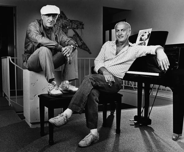 Photograph - Songwriters Jerry Leiber & Mike Stoller by George Rose