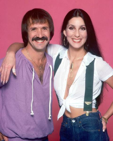 Sonny Bono Wall Art - Photograph - Sonny And Cher Portrait Session by Harry Langdon