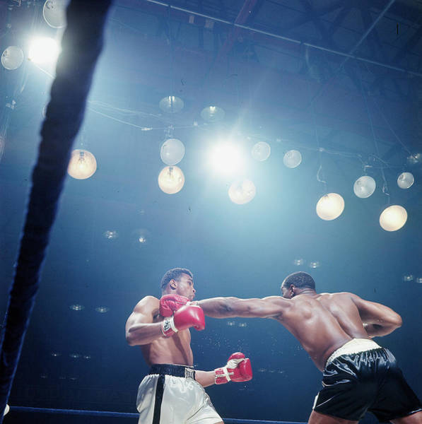 Photograph - Sonny Liston And Muhammad Ali by John Dominis