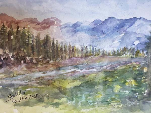 Wall Art - Painting - Sonora Pass California by Sulastri Linville