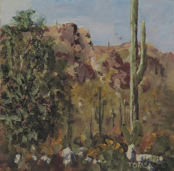 Wall Art - Painting - Sonoran Desert View by Bill Tomsa