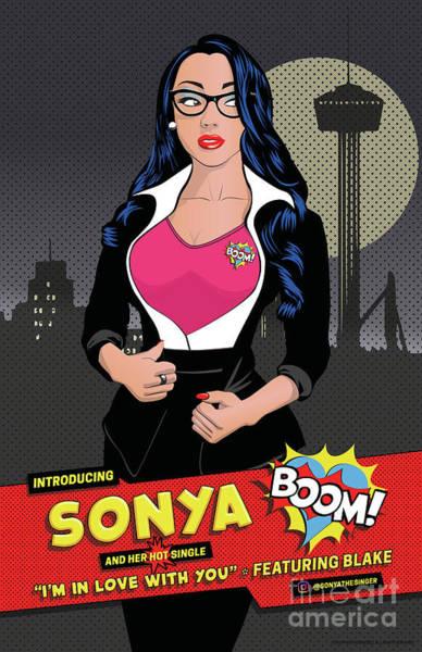 Liechtenstein Digital Art - Sonya Pop Art Poster by Fred Rodriguez