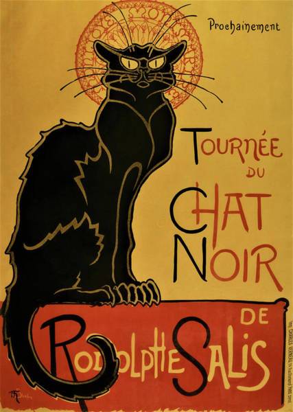 Wall Art - Painting - Soon, The Black Cat Tour By Rodolphe Salis - Digital Remastered Edition by Theophile Alexandre Steinlen