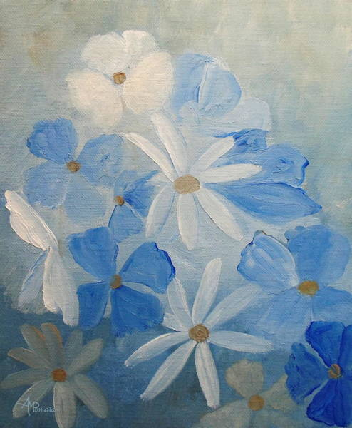 Painting - Soothing Blue by Angeles M Pomata