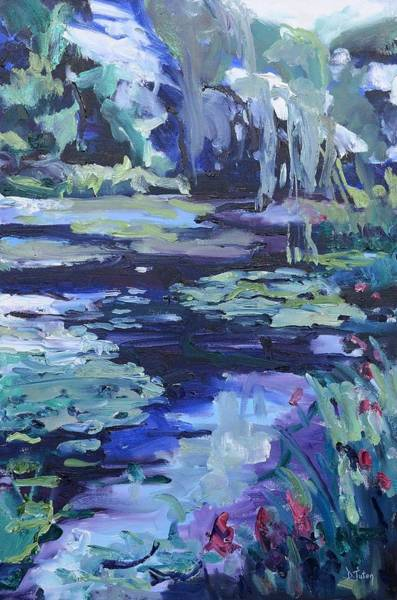 Wall Art - Painting - Soothing Watergarden by Donna Tuten