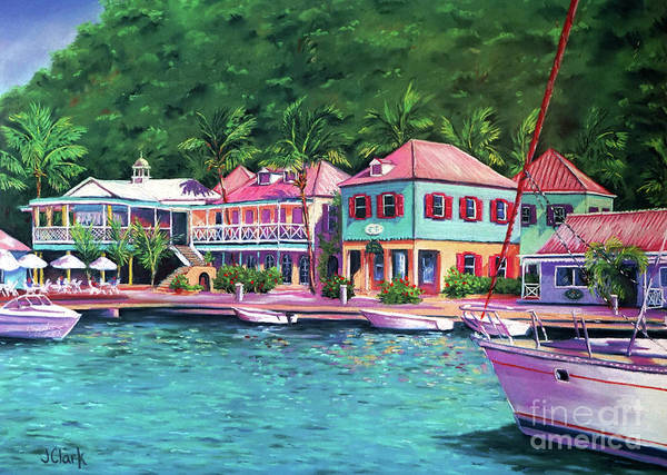 Wall Art - Painting - Soper's Hole Tortola  16x23 by John Clark