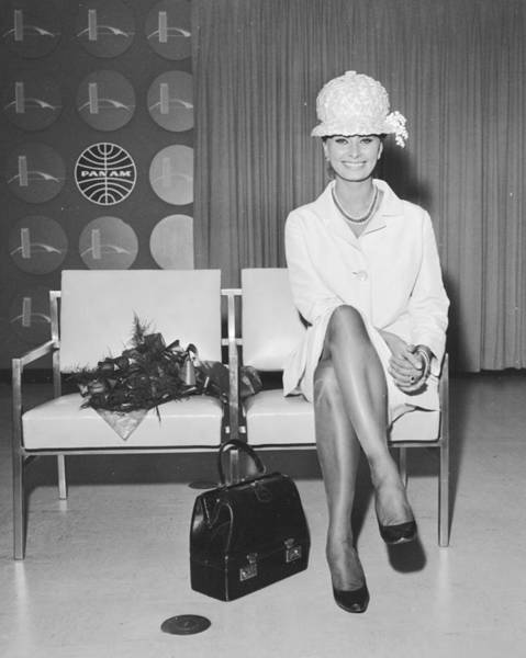 Photograph - Sophia Loren At International Airport by New York Daily News Archive