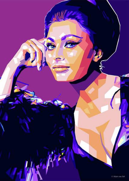 Digital Art - Sophia Loren Pop Art by Stars on Art