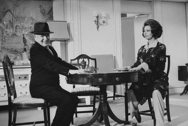 Photograph - Sophia Lorencharlie Chaplin by Alfred Eisenstaedt