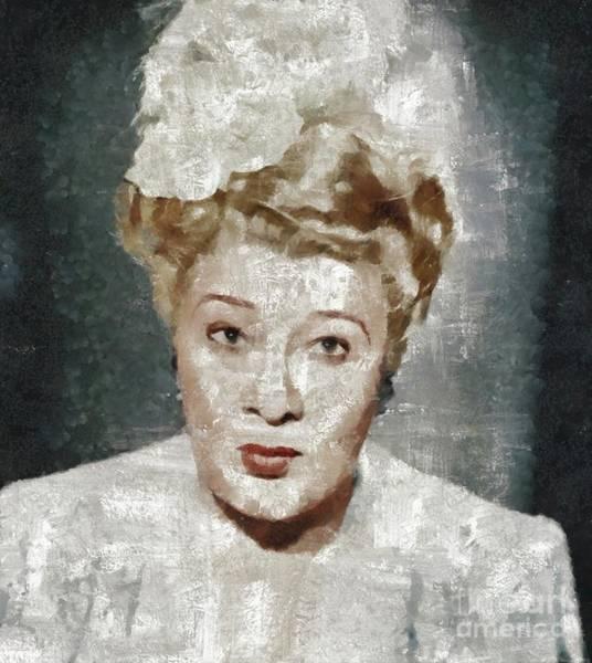 Wall Art - Painting - Sophie Tucker, Music Legend by Mary Bassett