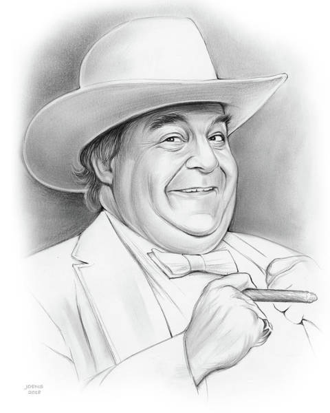 Television Drawing - Sorrell Booke by Greg Joens