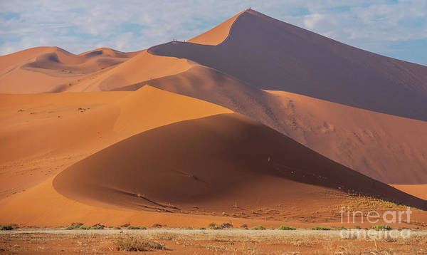 Wall Art - Photograph - Sossusvlei Namibia Climbing Big Daddy by Mike Reid