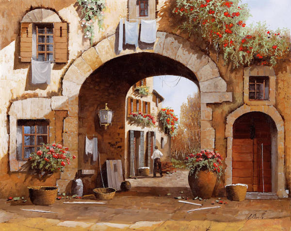 Wall Art - Painting - Sotto L'arco by Guido Borelli