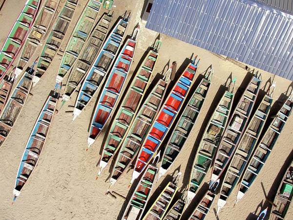 Dakar Photograph - Soumbedioune Boats by Jeff Attaway