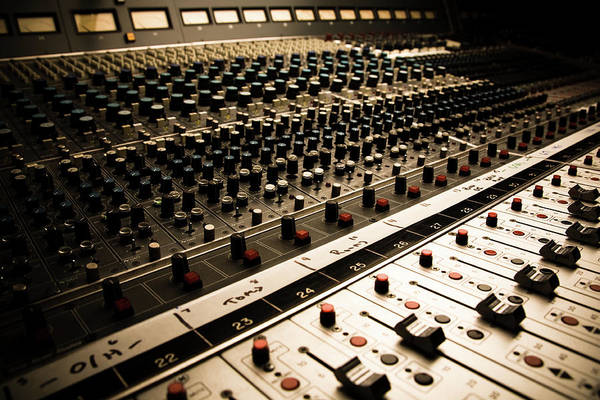 Equipment Photograph - Sound Board In Color by Halbergman