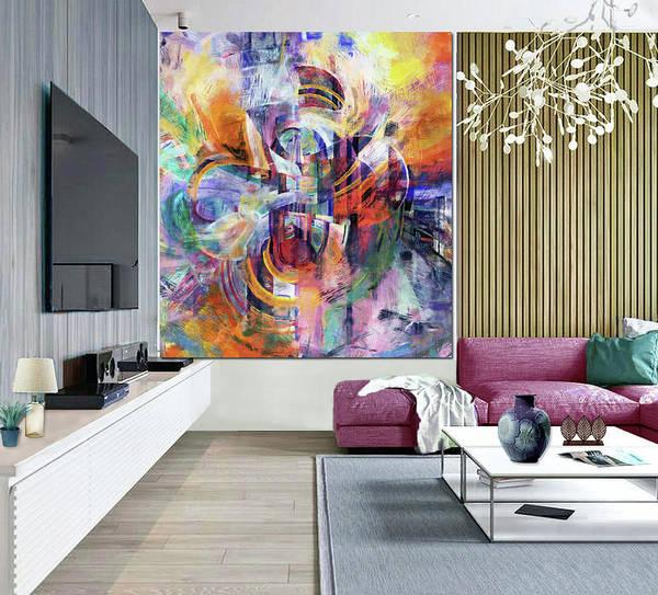 Wall Art - Digital Art - Sound Waves -artwork In Situ by Grace Iradian