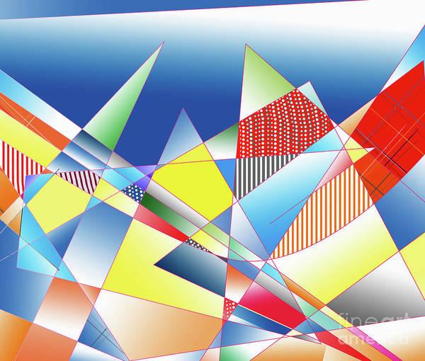 Digital Art - Sounding Mountains, 2019, Gradient by Alex Caminker