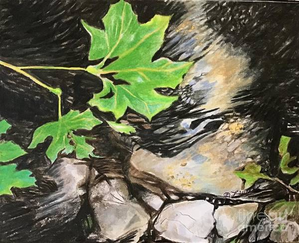 Wall Art - Drawing - Sounds Of Babbling Brook  by Laurel Adams