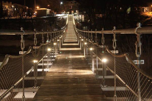 Photograph - Souris Swinging Bridge by David Matthews