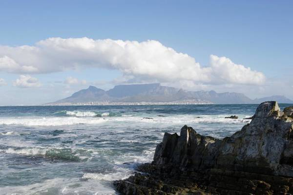 Table Mountain Wall Art - Photograph - South Africa, Robben Island, View To by Tony Souter