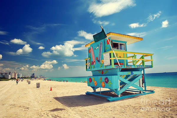 Wall Art - Photograph - South Beach In Miami, Florida by S.borisov