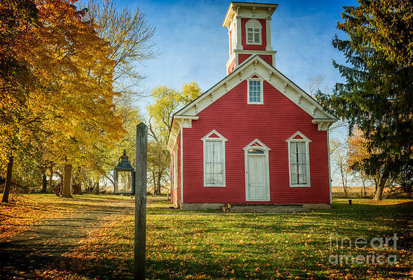 Photograph - South Branch Schoolhouse by Debra Fedchin