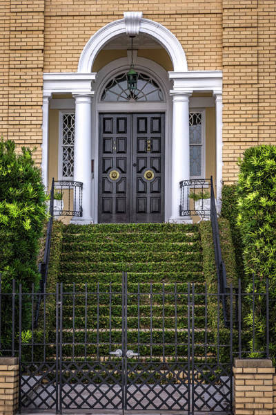 Photograph - South Carolina - Charleston - Door Up The Stairs by Ron Pate