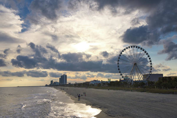 Photograph - South Carolina Coastline - Myrtle Beach by Andrea Anderegg