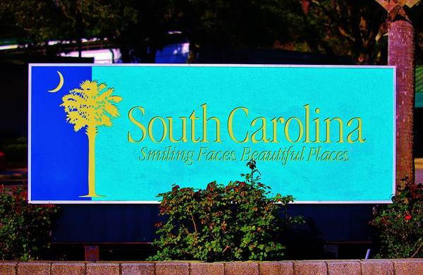 Photograph - South Carolina Sign by Cynthia Guinn