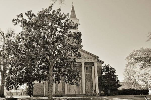 Photograph - South Carolina State Hospital Chapel Of Hope Black And White 2 by Lisa Wooten