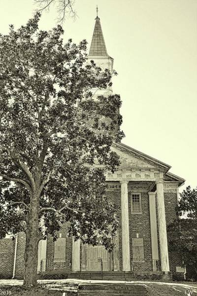Photograph - South Carolina State Hospital Chapel Of Hope Black And White by Lisa Wooten