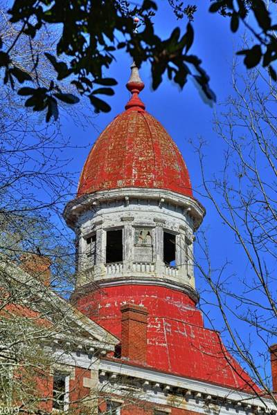 Photograph - South Carolina State Hospital Dome by Lisa Wooten
