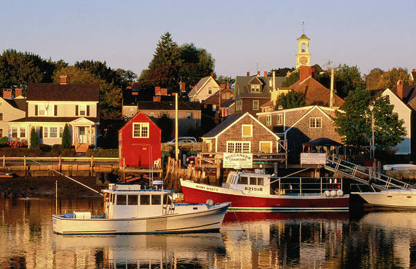 New Hampshire Photograph - South End, Harbor And Houses by John Elk Iii