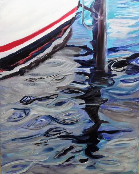 Oak Harbor Painting - South Harbor Reflections 2 by Max Bowermeister