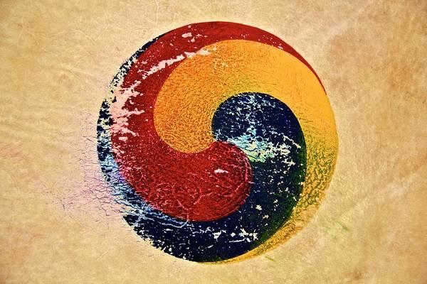 Drum Circle Wall Art - Photograph - South Korean Emblem by Roberto Chaves Jr.