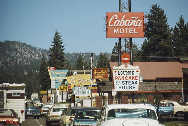 1974 Photograph - South Lake Tahoe by Frederic Lewis