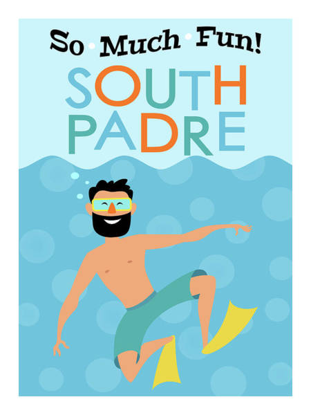 South Beach Digital Art - South Padre Fun Hipster Travel by Flo Karp