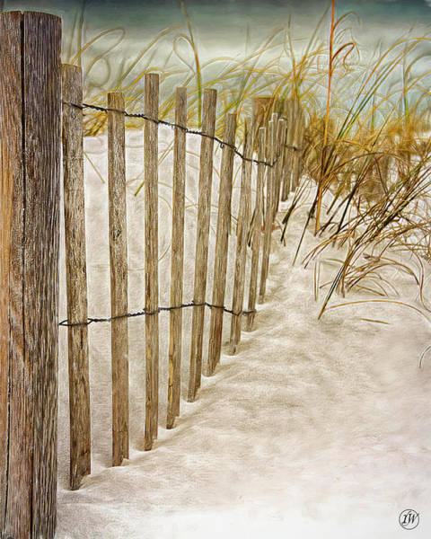 Fence Post Digital Art - South Side Bathing Beach by Rick Wiles