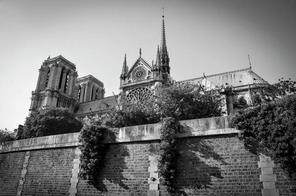 Photograph - South Side Of Notre-dame De Paris Before The Fire Of 2019 Bw by RicardMN Photography