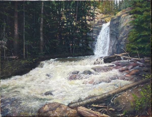 Andrew Jackson Wall Art - Painting - South Willow Falls by Andrew Jackson