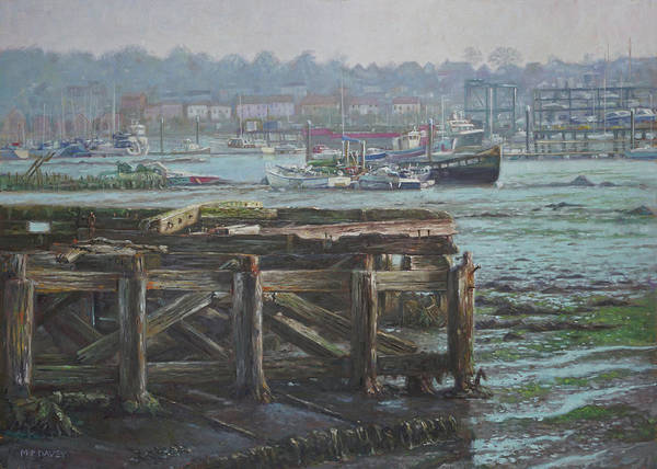 Painting - Southampton Northam Summer Evening Across The Itchen by Martin Davey