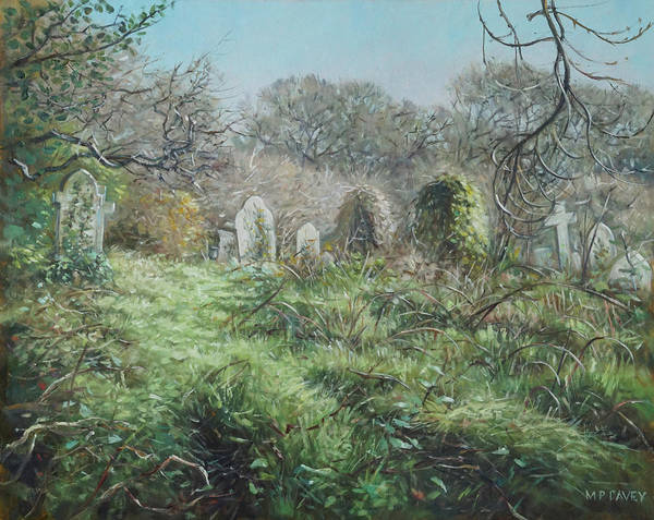 Painting - Southampton Old Cemetery In Autumn by Martin Davey