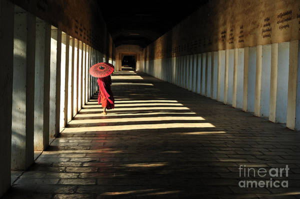 Bagan Photograph - Southeast Asian Young Little Buddhist by Mudvayne