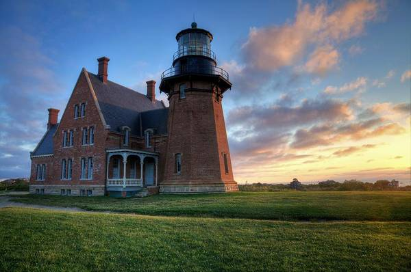 Photograph - Southeast Light Sunrise by Eric Full