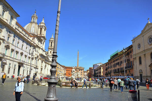 Photograph - Southern End Of Piazza Navona by JAMART Photography