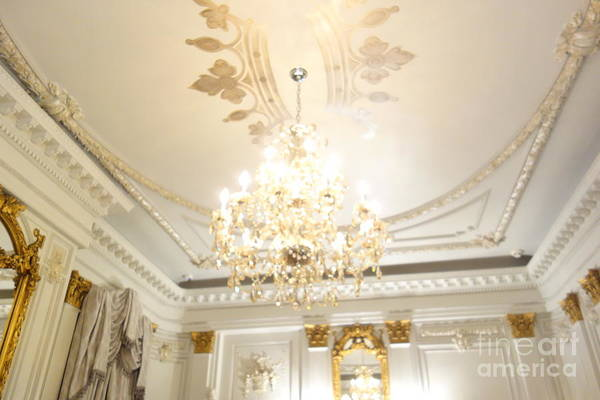 Photograph - Southern Mansion Chandelier  by Susan Carella