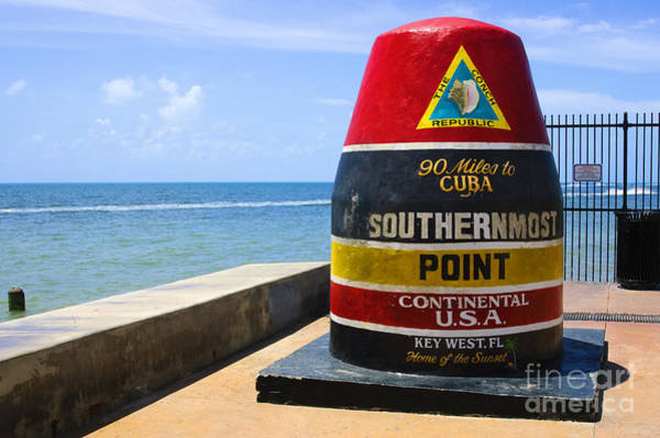 Continental Wall Art - Photograph - Southernmost Point In Continental Usa by Nito