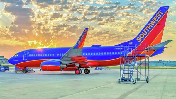 Photograph - Southwest Airlines The Winning Spirit 737 by Robert Bellomy