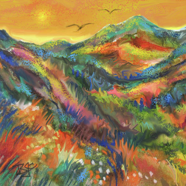 Painting - Southwest Country by Jean Batzell Fitzgerald