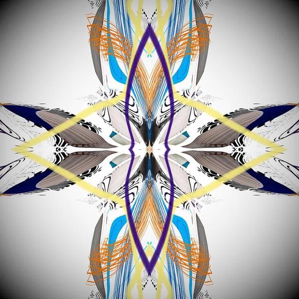 Digital Art - Southwestern Feather Abstract  by Sheila Wenzel